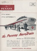 """Pennsy Aerotrain,"" Back Cover, 1956"