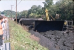 Coal train wreck that tied up the mainline for days.
