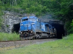 CSX 7331 pulls a suprisingly all hopper Q293 out of State Line Tunnel