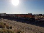 BNSF 3789 rolls westbound as a Rear most DPU on A Z Train heading towards The LA area.