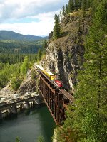 Southbound on Box Canyon Trestle