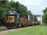 CSX W033 Welded Rail Train with CSX 8364 Leading