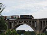 CSX Y122 Across James River Bridge Richmond VA