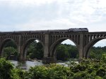 Amtrak 90 Palmetto over James River Bridge Richmond VA
