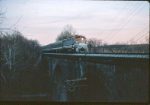 MDOT 7184 crosses the Little Monocacy Viaduct at dusk