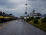 ARR Cruise Ship Train in Seward