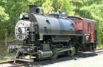 0-4-0 #17 sits idle in the NC summer heat