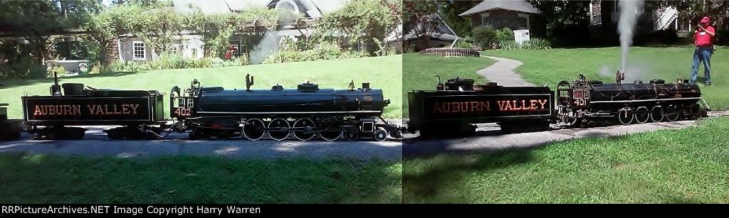 Double-header on the Auburn Valley Railroad