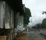 611 on its way back to the VMT in Roanoke passes by what's left of the station at Forest, VA,
