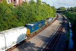 CSX Freight Heading Toward Hampton Street Overpass