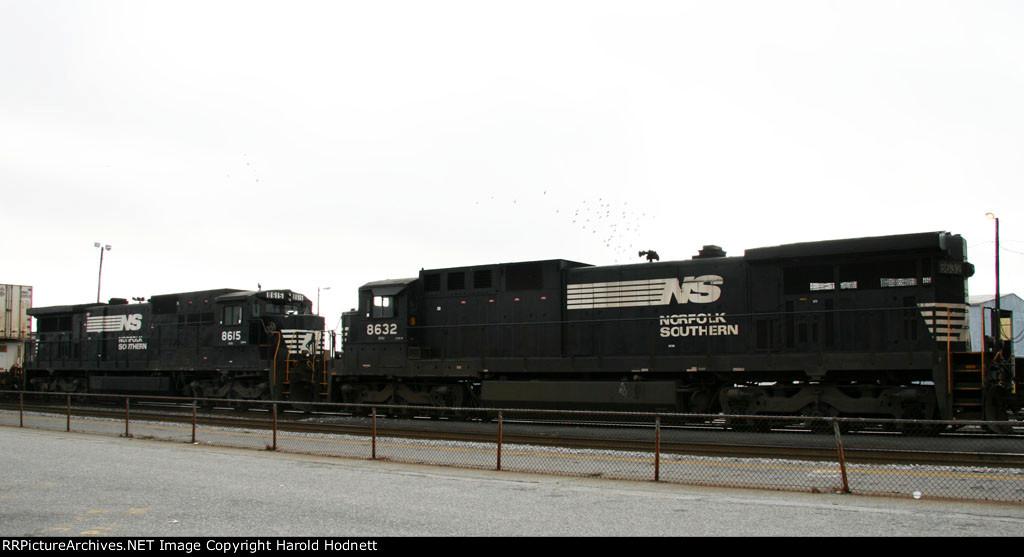 NS 8632 & 8615 work on train 213