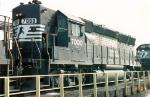 NS 7000 sits at the fuel racks at Glenwood Yard