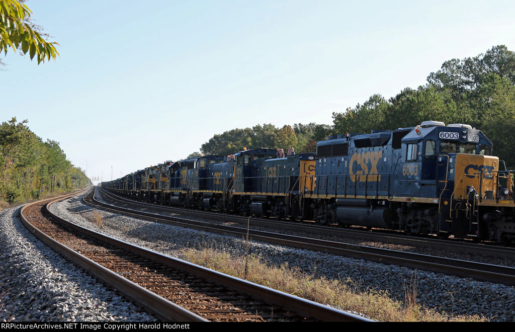 CSX 6003 and others await their fate in the dead line