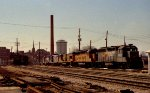 CSX 6677 sits with other locos at the south end of the yard