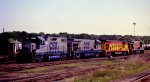 CSX 2529 sits with other locos
