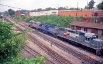 CSX 1810 leads 6726 and 2587 southbound past Raleigh (Boylan) Tower