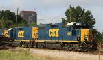 CSX 2500 & 2347 sit with other locos