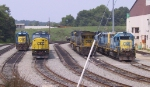 CSX 641 sits with other units outside the engine terminal
