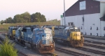 CSX 8753 and a variety of other CSX units are in Acca Yard