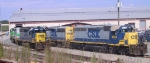 CSX 4615 and other units await their next assignment