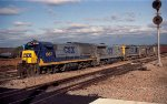 CSX 1987 and others sit outside the yard office