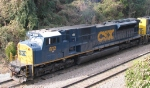 CSX 812 is on the lead of a loaded coal train