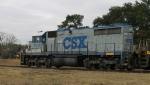 CSX 2402 runs the wye