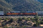 BNSF5257 and BNSF6837 passing Cajon Junction