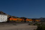 BNSF5217, BNSF3791 and BNSF8227 passing Mormon Rocks