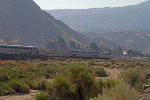 Amtrak200 and Amtrak130 approaching Cajon Junction