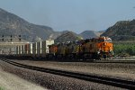 BNSF7093, CREX1207, CREX1419 and BNSF5069 passing Cajon Station