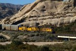 UP8229, UP2572 and UP2617 passing Mormon Rocks