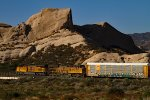 UP2559 and UP7395 passing Mormon Rocks
