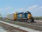 CSX 8213 as hump bowl trimmer at Osborn Yard