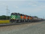 Green & Orange SD40-2s