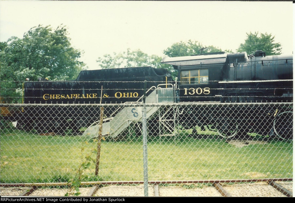 C&O 1308, cab and tender view