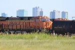 BNSF 6735 and 7421