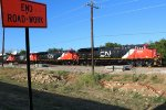 Brand new CN ET44ACs sitting outside of GE Fort Worth.