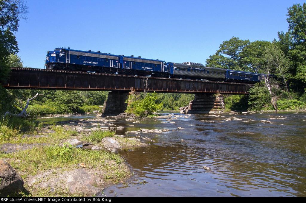 Pan Am's OCS crosses the Hoosick River just below Valley Falls, NY