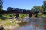 Pan Am's OCS crosses the Hoosick River just below Valley Falls, NY