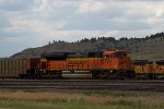 BNSF9338 on an empty coal train in the yard