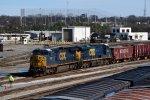 NS overlooks a CSX train