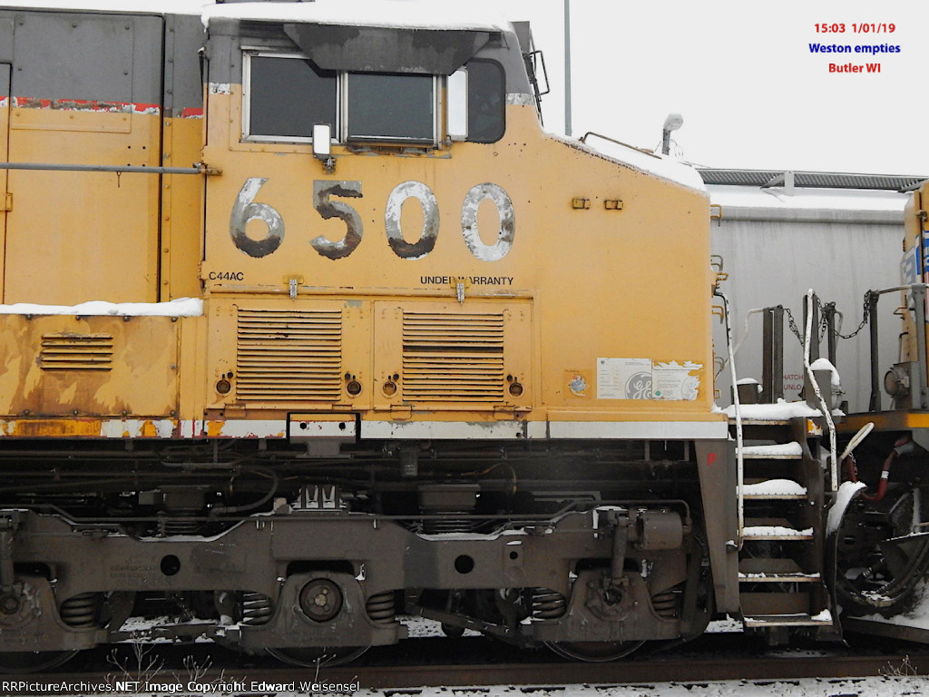 Numbers on both sdes of the cab look unusually ratty