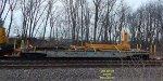 MoW flatcar in service with 110-ton Cnw Ohio crane x262100.