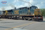 CSX unit phosphate loads departing