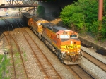 BNSF 5602 & 9887 rolling west with 667