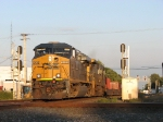 CSX 5408 & 7540 about to pound across the diamond with a westbound intermodal
