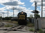 CSX 6049 leading H794 around the wye to interchange with NS