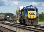After making its pick up, H795 heads around the NS yard on its way back to the C&O Yard