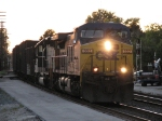 CSX 332 & 8139 head east at sunset with K380